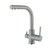 Смеситель для кухни на две воды Aquasanita Akvaduo 2663-202 алюметалик