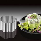 Сервировочное кулинарное кольцо с порессом Цветок Мousse mold, фото 4