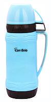 Термос зі скляною колбою Con Brio Блакитний CB-353 - 600мл