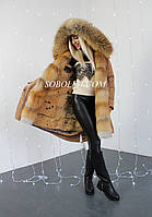 Парка  с мехом Gold fox, размер 44/46