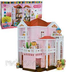 Домик Happy Family 1513 трехэтажный со светом аналог Sylvanian Families