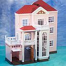 Домик Happy Family 1513 трехэтажный со светом аналог Sylvanian Families, фото 2