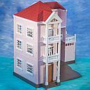 Домик Happy Family 1513 трехэтажный со светом аналог Sylvanian Families, фото 3