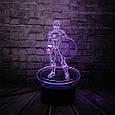 3D-лампа ночник с пультом Lumen Captain America, фото 2