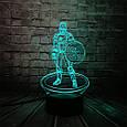 3D-лампа ночник с пультом Lumen Captain America, фото 3