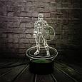 3D-лампа ночник с пультом Lumen Captain America, фото 4