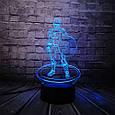 3D-лампа ночник с пультом Lumen Captain America, фото 5