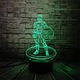 3D-лампа ночник с пультом Lumen Captain America, фото 6