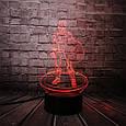 3D-лампа ночник с пультом Lumen Captain America, фото 7