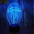 3D-лампа ночник с пультом Lumen Jelly, фото 5