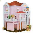 Домик Happy Family 1513 трехэтажный со светом аналог Sylvanian Families, фото 7
