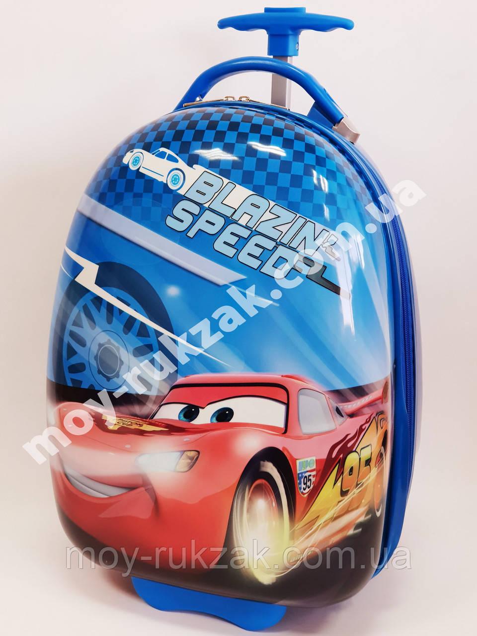 Детский чемодан дорожный на колесах «Тачки» Cars-10