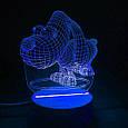 3D-лампа ночник с пультом Lumen Dog, фото 2