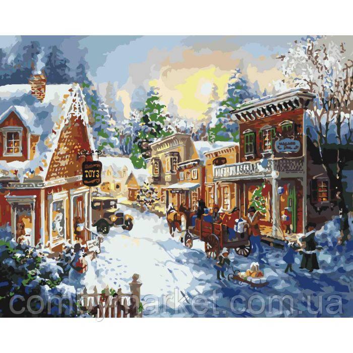 Картина по номерам «Накануне Рождества» 40*50 см.