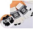Перчатки для сенсорных экранов Touch Gloves Snowflake white-black (бело-черные)