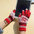 Перчатки для сенсорных экранов Touch Gloves Snowflake pink (розовые), фото 2