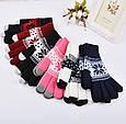 Перчатки для сенсорных экранов Touch Gloves Snowflake pink (розовые), фото 3