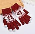 Перчатки для сенсорных экранов Touch Gloves Snowflake, фото 4