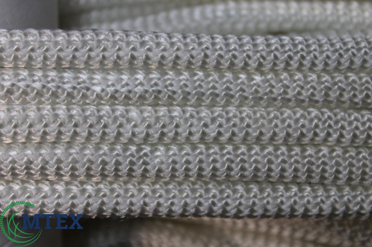 Шнур капроновий в'язаний з сердечником 8мм. 50метров