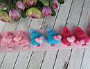 Заколки для волос детские с вязаной шапочкой 10 шт/уп, фото 3