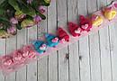 Заколки для волос детские с вязаной шапочкой 10 шт/уп, фото 5
