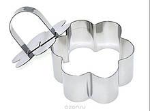 Сервировочное кулинарное кольцо с прессом  Цветок Мousse mold