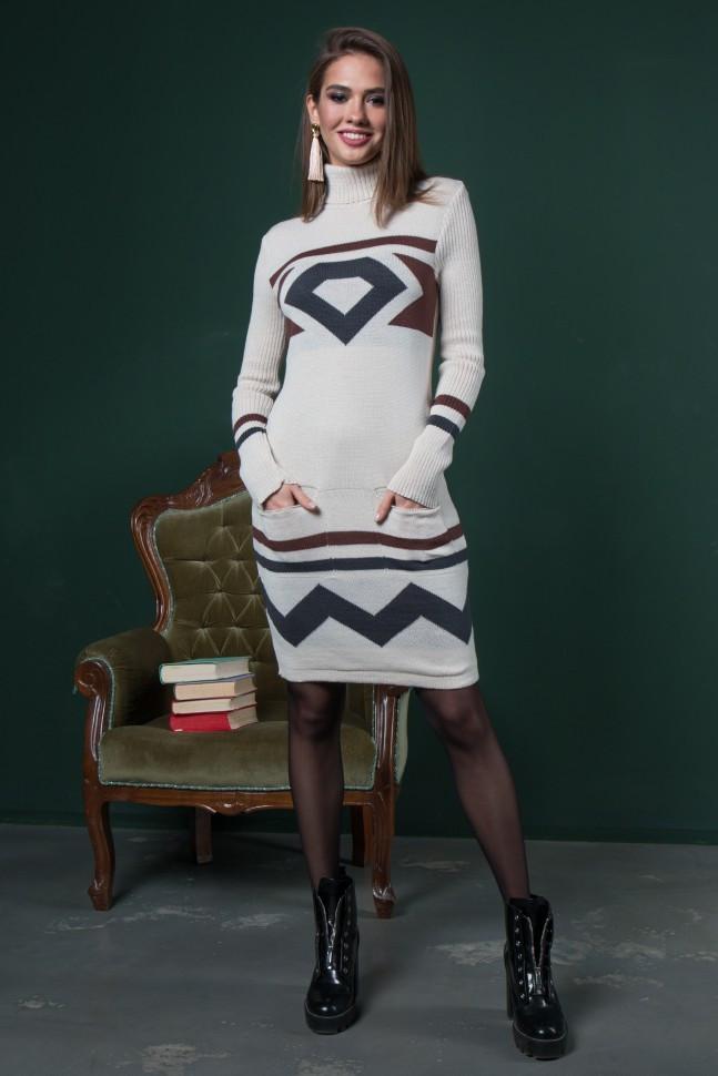 теплые вязаные платья диамант песочный графит шоколад цена 460 грн