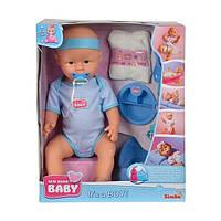 Набор кукла пупс для девочки мальчик 43 см Оригинал Simba New Born Baby 5030044