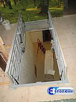 Люк напольный «Drive» с электроприводом, под лестничные марши и площадки