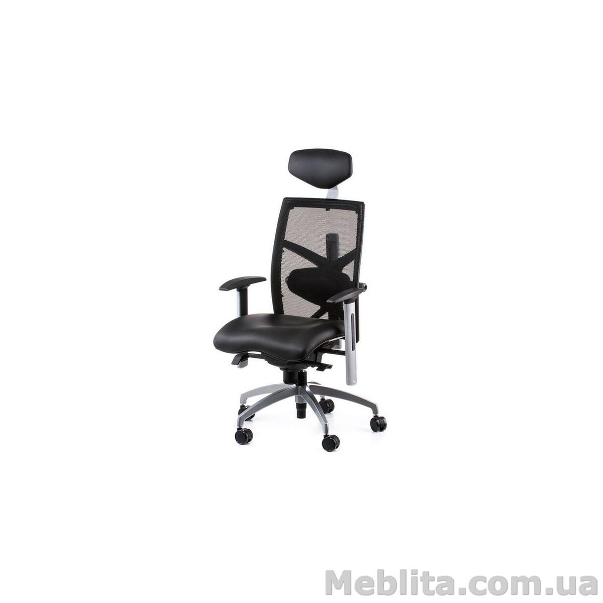 Кресло офисное еxact black lеathеr, black mеsh Special4You