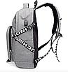 Рюкзак городской ISteeL для ноутбука Серый, фото 6