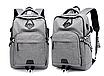 Рюкзак городской ISteeL для ноутбука Серый, фото 3