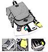 Рюкзак городской ISteeL для ноутбука Серый, фото 4