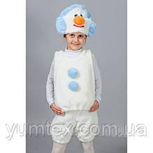 Прокат костюма снеговика из меха, размер 7-11 лет