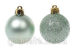 Набор елочных шаров 48 шт (4 см), цвет: эвкалипт