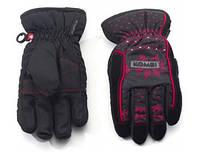 Перчатки Kombi STRIKE JR, подростковые, черные с красным узором, размер XL