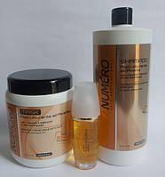 Numero маска и шампунь с овсом 1л жидкие кристалли для волос однофазные 60 мл Италия