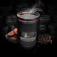 Чашка-объектив Canon EF 28-135 с крышкой-блендой