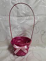 Корзинка с ленточкой, розовая