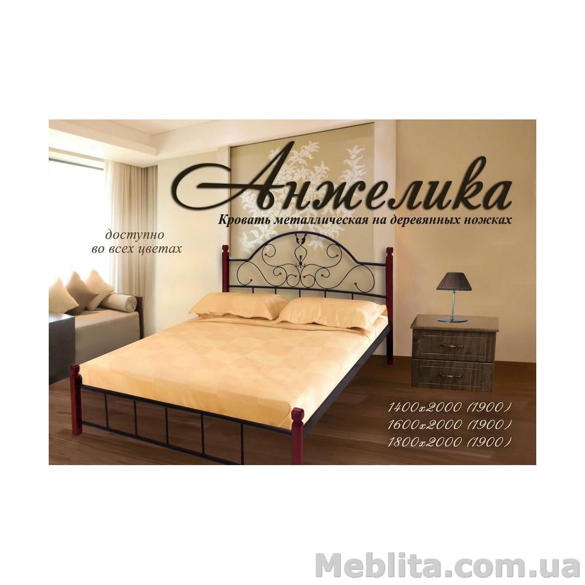 Кровать Анжелика Вуд 140х200 см. Металл-Дизайн