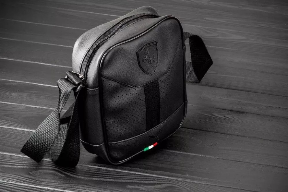 d17b5cf4fa54 Мужская барсетка PUMA FERRARI, сумка через плечо ПУМА, мессенджер, цвет  черный - Интернет