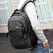 Рюкзак Meijieuo городской с выходом для кабеля унисекс черный, фото 5