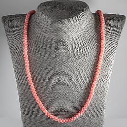Рожевий корал, намисто, 113ОК