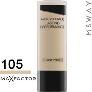 MaxFactor - Тональный крем Lasting Performance Тон 105 soft beige, теплый беж 35ml