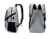 Рюкзак городской Meijieuo с выходом для кабеля унисекс Серый, фото 5