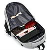 Рюкзак городской Meijieuo с выходом для кабеля унисекс Серый, фото 7