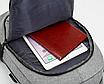 Рюкзак городской Meijieuo с выходом для кабеля унисекс Серый, фото 8