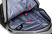 Рюкзак городской Meijieuo с выходом для кабеля унисекс Серый, фото 9