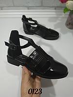 Туфли ботинки женские черные низкий ход, женская обувь