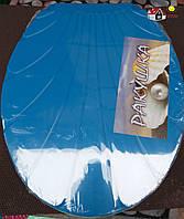 Сиденье на унитаз с крышкой Ракушка (синий), производитель Украина